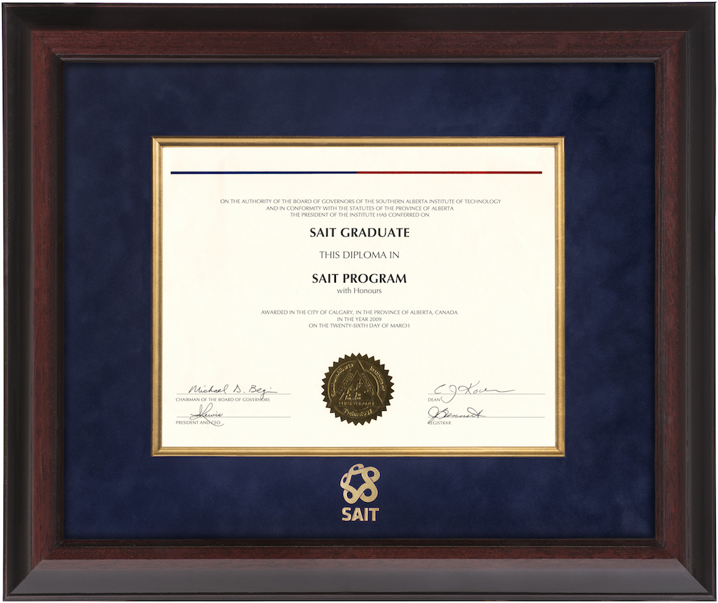 Executive Diploma Frame – SAIT Diploma Frames